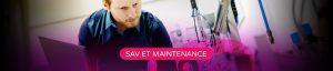 Bannière SAV et maintenance